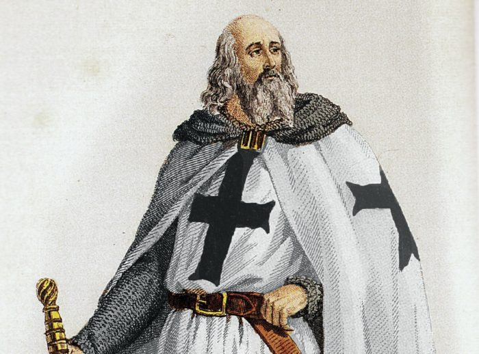 A painting of Jacques de Molay