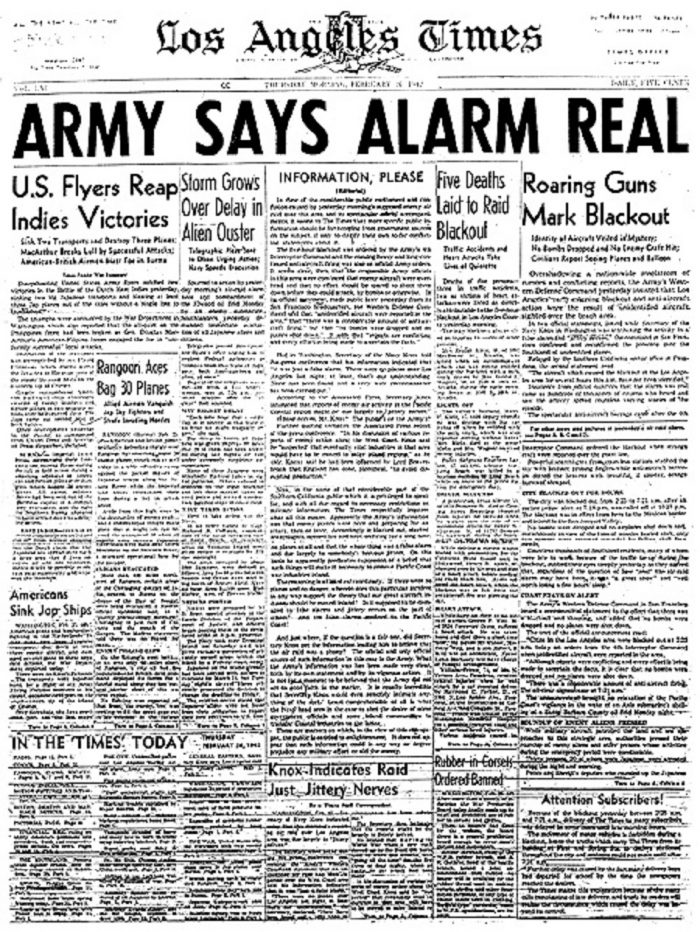 Newspaper article of the incident