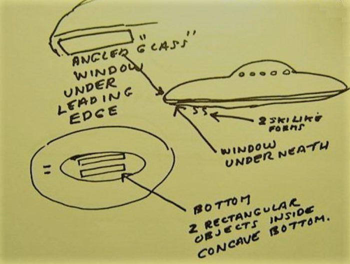 Los Angeles 1979 UFO Sketch