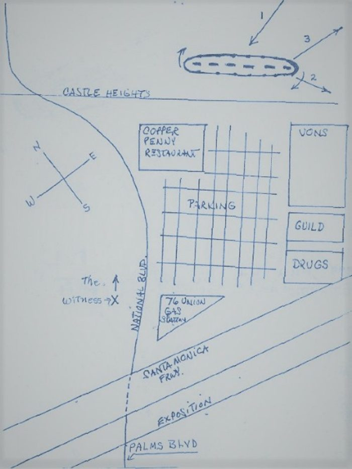 Los Angeles1981 UFO Sketch