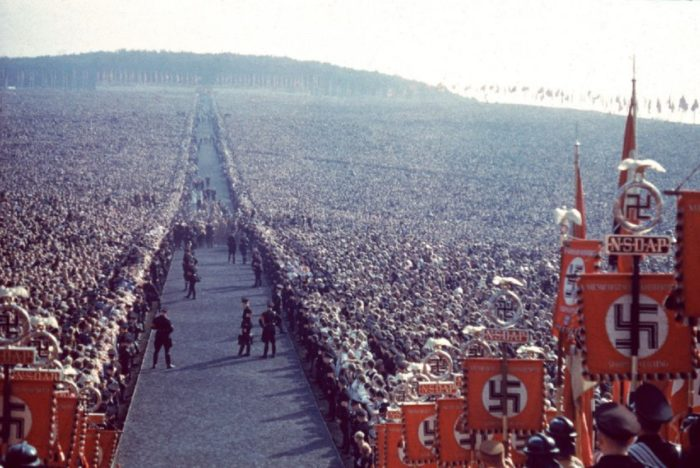 A picture of a Nazi rally
