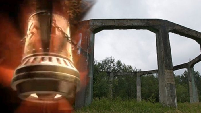 A picture of the Nazi Bell blended into an image of The Henge