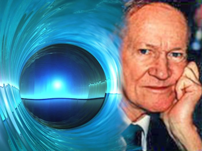 Al Bielek blended into a depiction of a portal