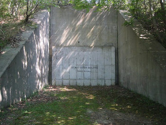 An entrance to the top secret Montauk base