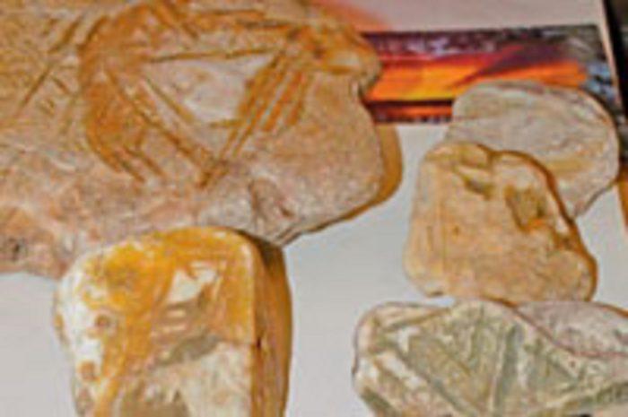 An example of crystal rocks discovered at Tunguska