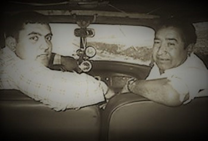 Picture of Francisco and Carmelo Nunez in their car