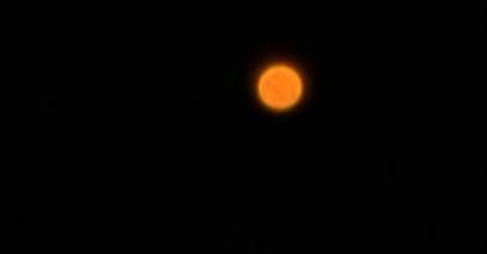 Orange Orb UFO