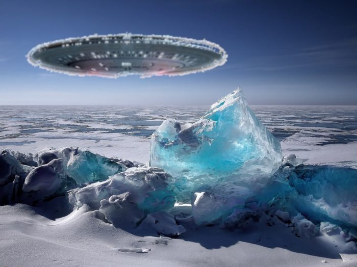 A depiction of a UFO in Siberia