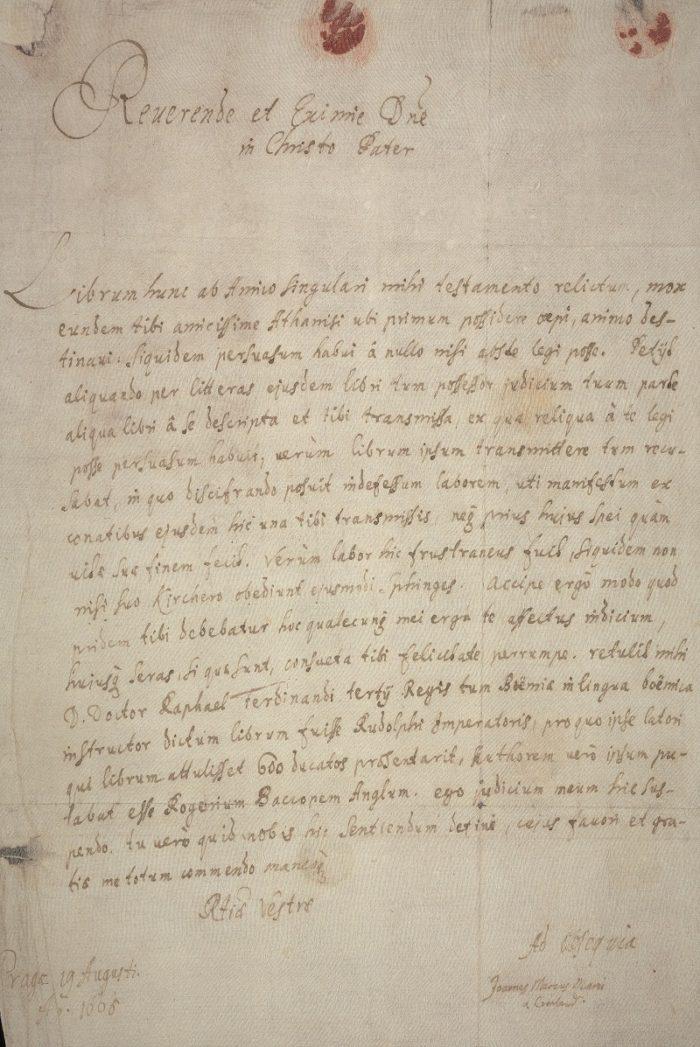 Voynich Letter