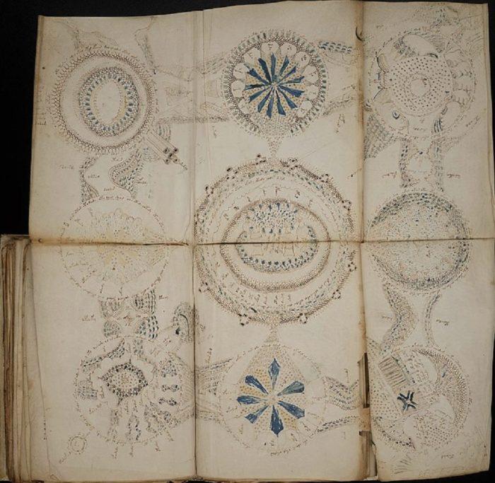 Voynich Manuscript Fold Out