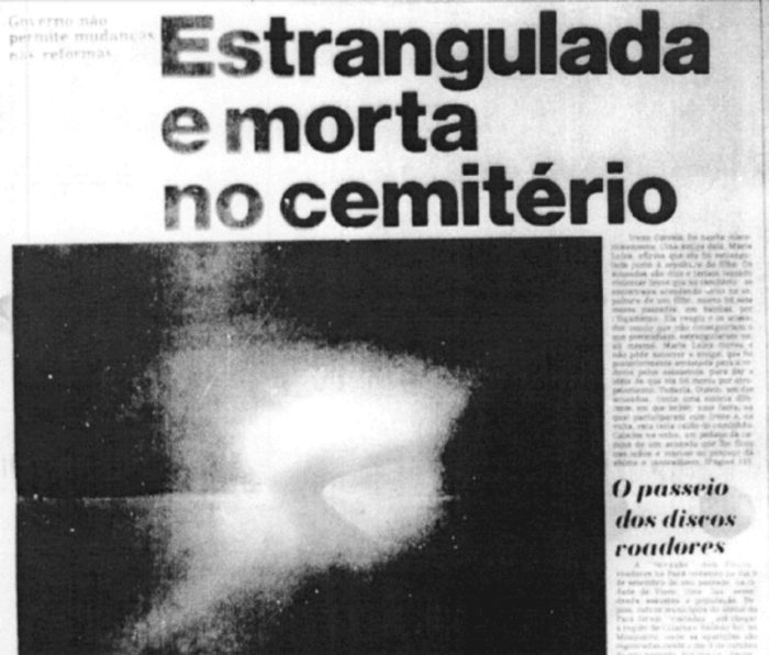 Newspaper article about the UFO wave