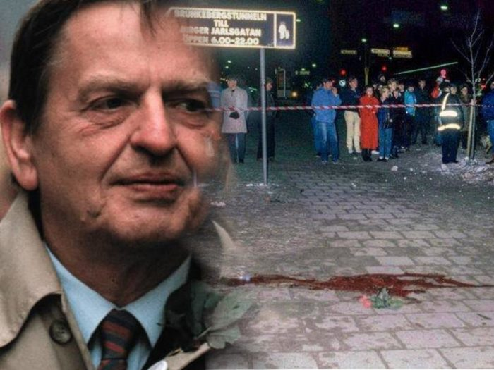 Olof Palme blended into a scene of the murder