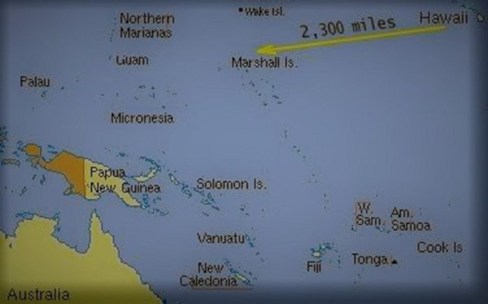 Map of the supposed route of the Sarah Joe