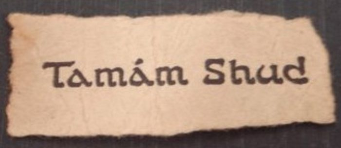 Somerton Man Tamam Shud