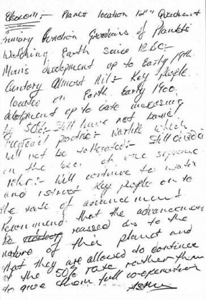 1985 Bagshot UFO Note