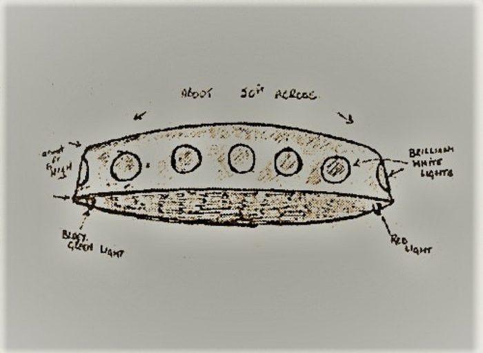 1985 Bagshot UFO Sketch