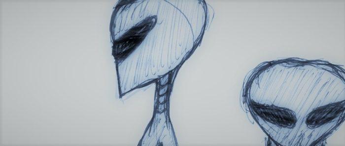 Witness sketch of the alien entities