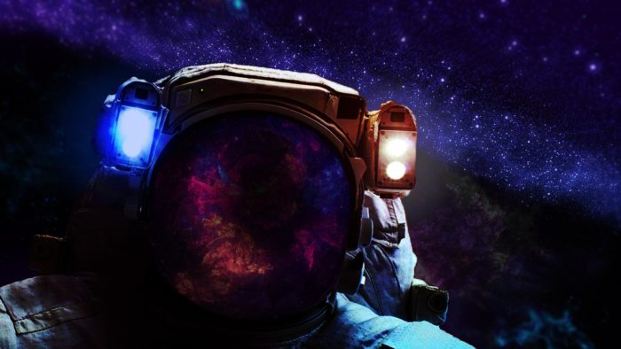 An image of an astronaut staring into space
