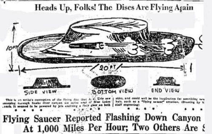 1947 UFO Newspaper