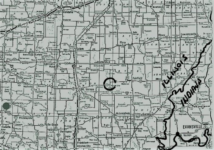 63 Illinois UFO Map 2