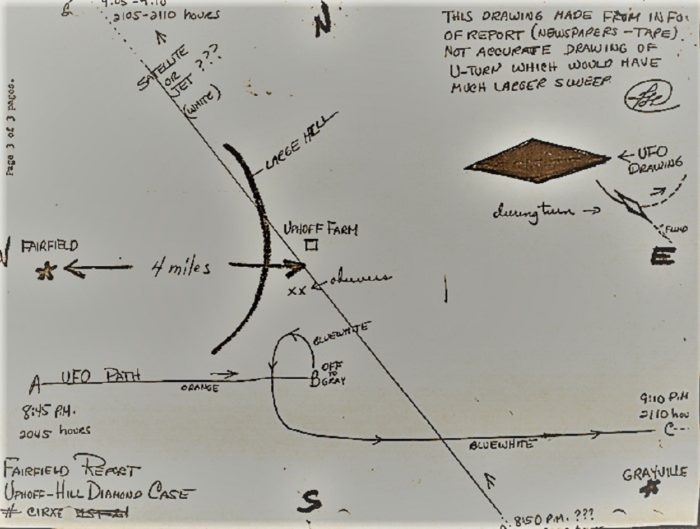 Uphoff Map of the UFO incident