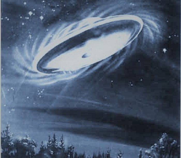 Artist's impression of the UFO overhead