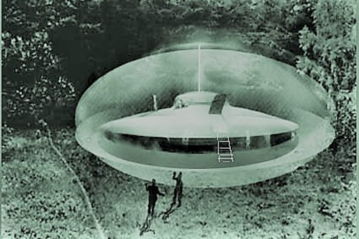 Artist's impression of the Boulder Mountain UFO incident