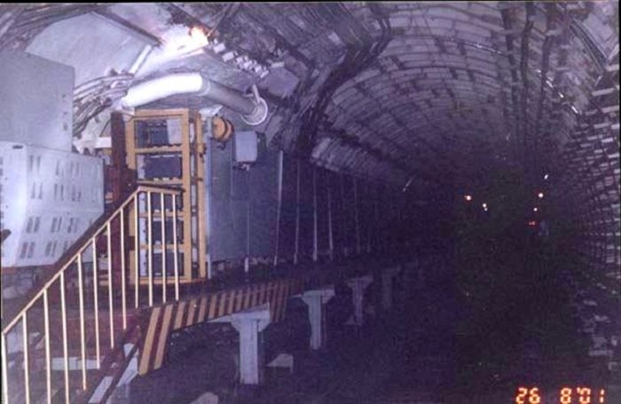 Alleged picture of the Metro-2 rail tunnel