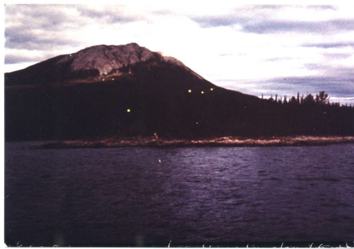 Alleged UFOs over Tagish Lake in 1970