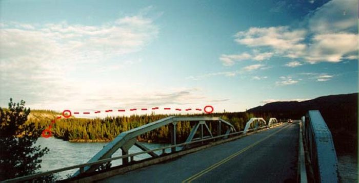 Bridge where the Klondike Highway sighting took place
