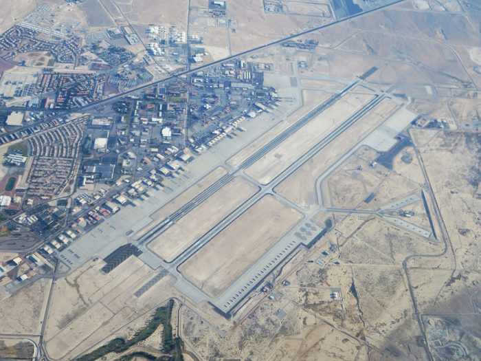 Aerial view of Nellis Air Force Base