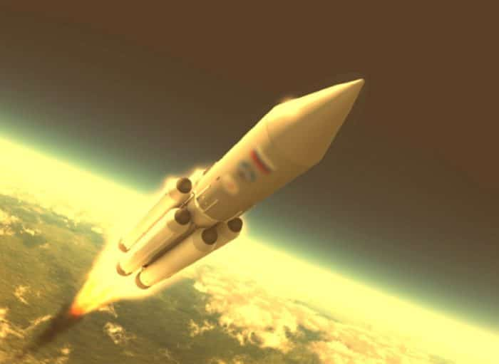 Artist's impression of the Atlas rocket launch
