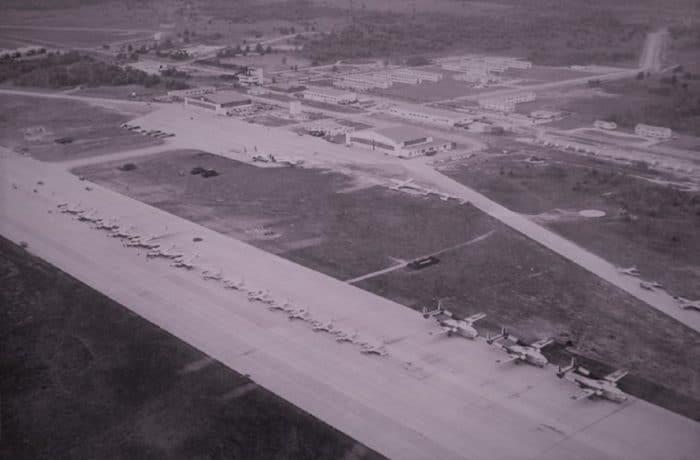 Aerial shot of Kinross Air Force Base