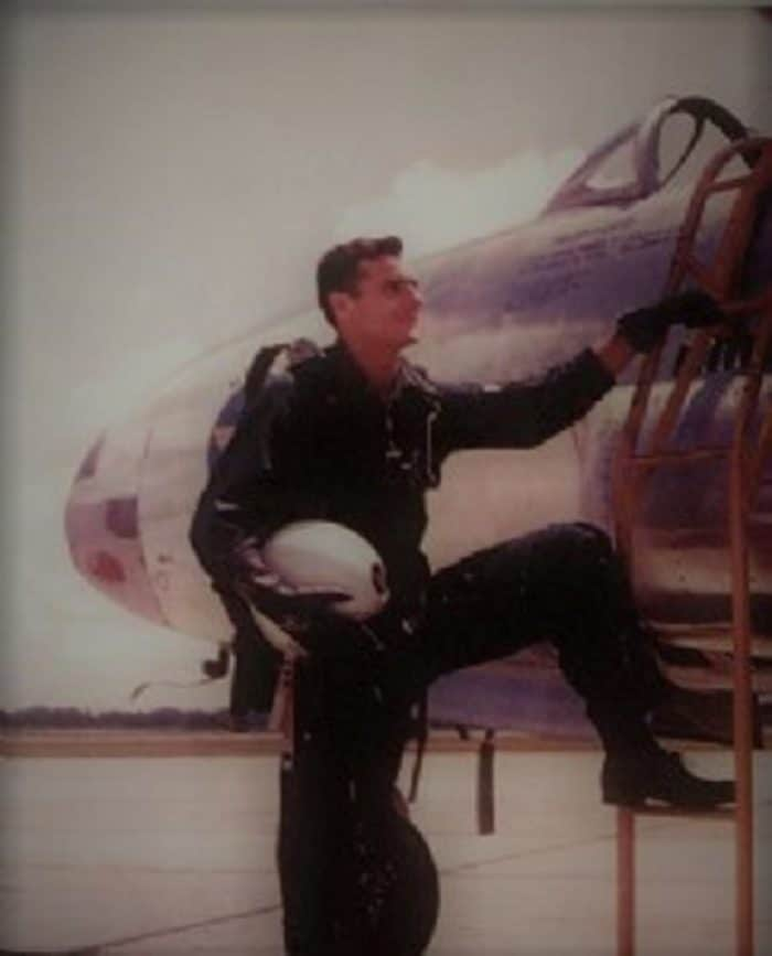 Moncla with his fighter plane