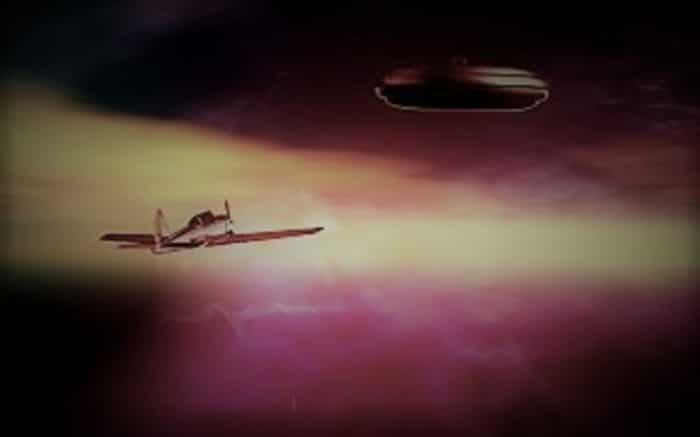 A depiction of the Kinross UFO incident