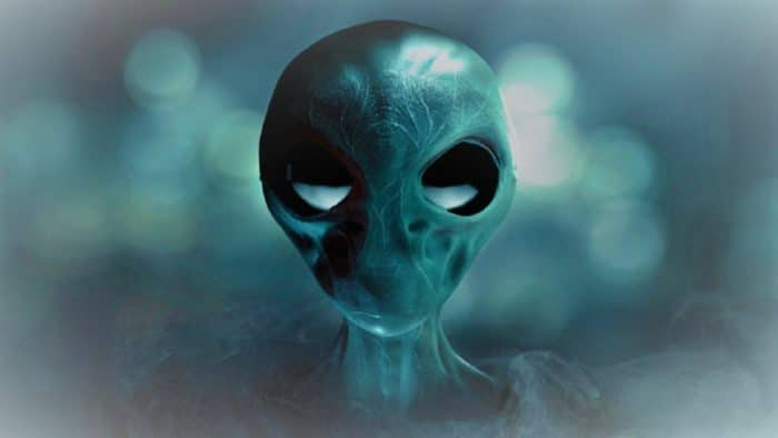 A depiction of an alien