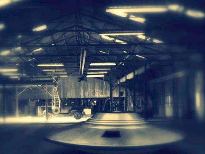 A UFO in a military hangar