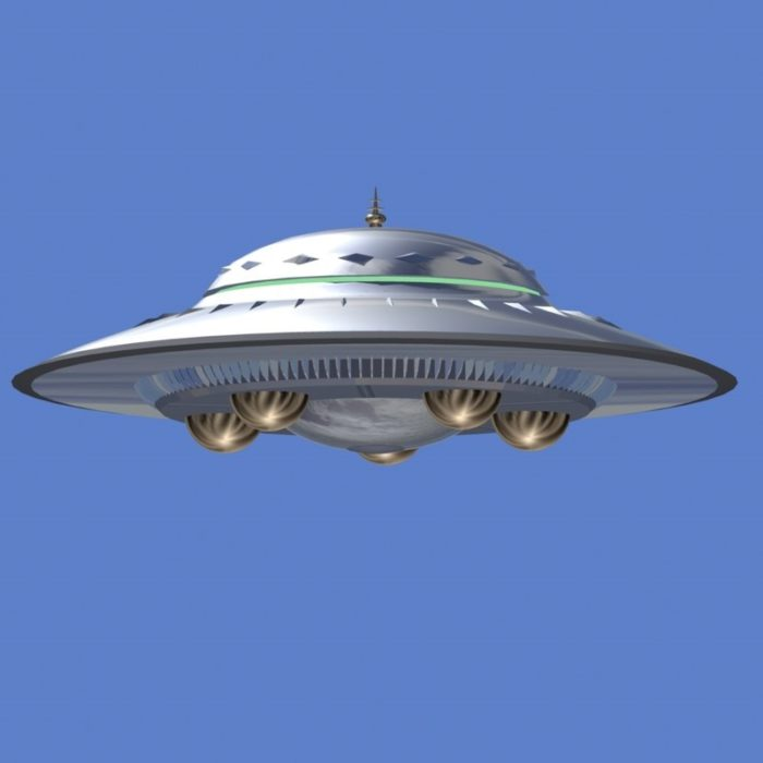 A depiction of a typical UFO