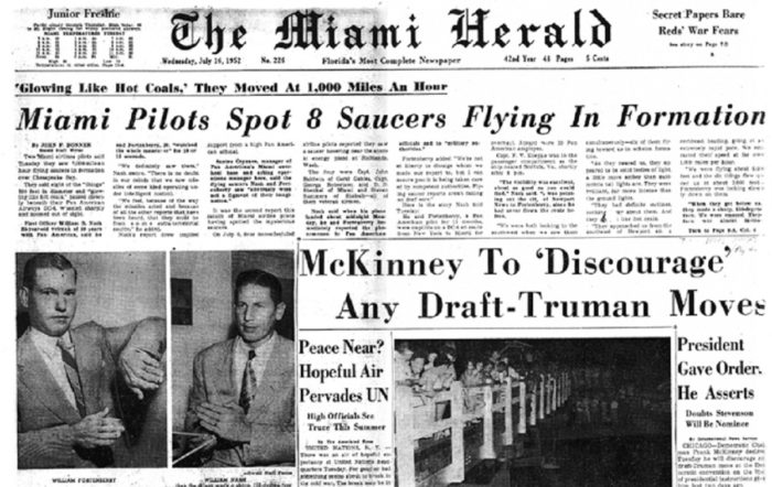 Newspaper clipping from the Miami Herald