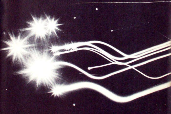 A depiction of the strange lights