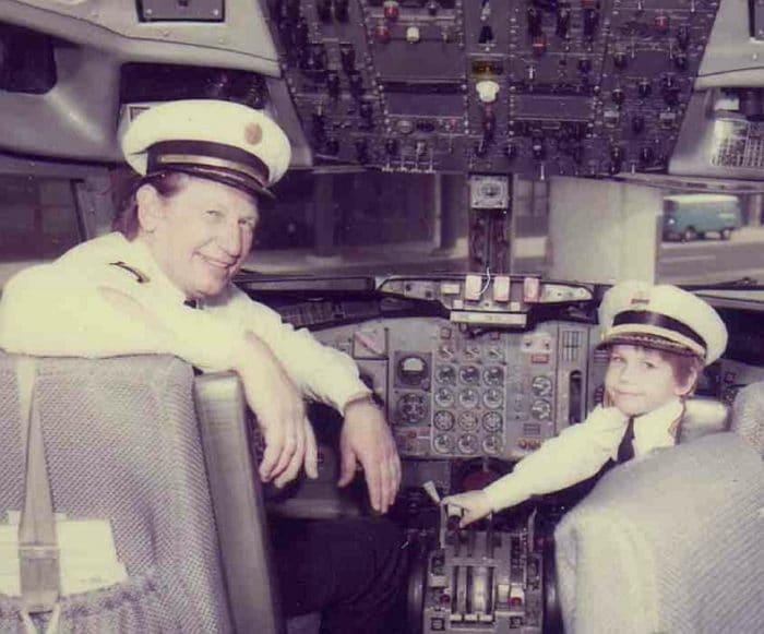 Pilot Nash in the cockpit