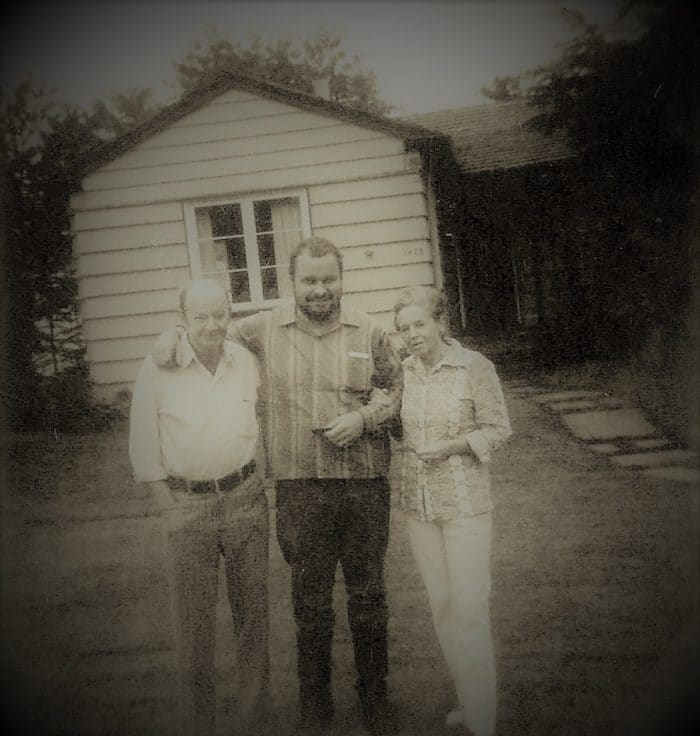 Granger Taylor with his parents