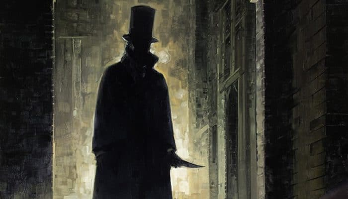 Artist's impression of Jack The Ripper holding a knife