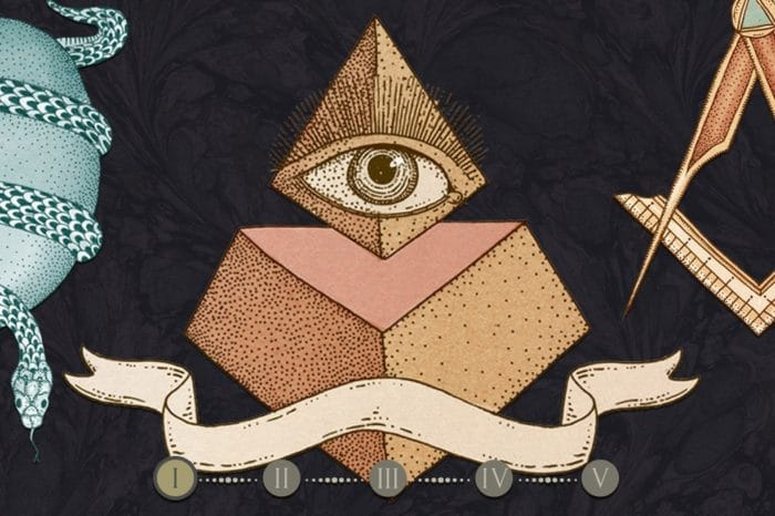 The Masonic symbols pyramids and all-seeing eye
