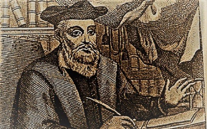 Drawing of Nostradamus