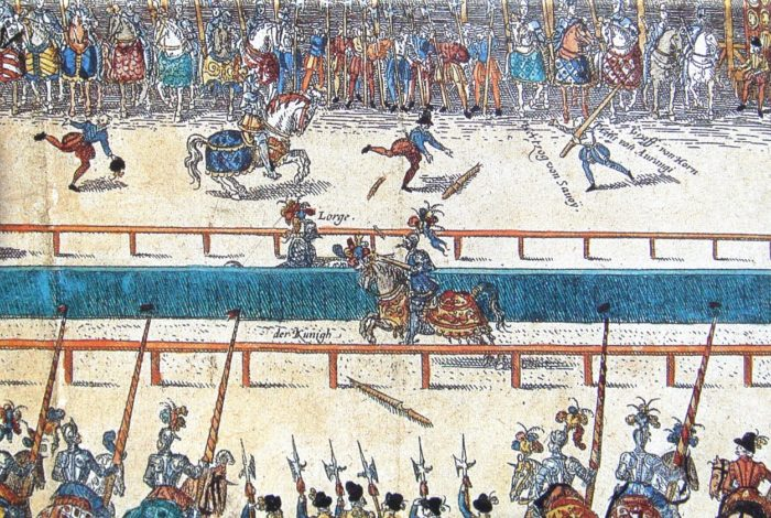 Depiction of King Henry II's fatal joust