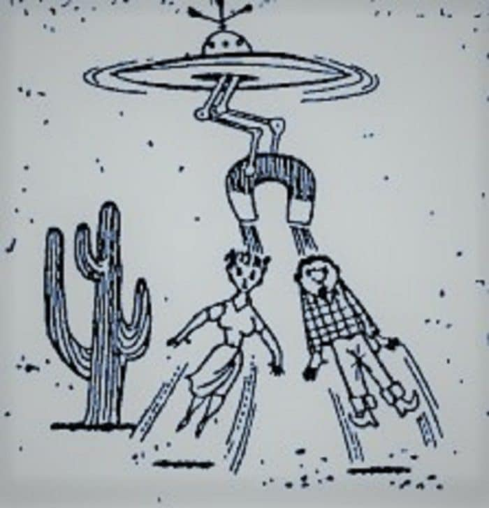 A sketch of the strange UFO incident