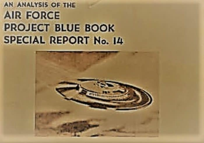 A cover of a Project Blue Book report
