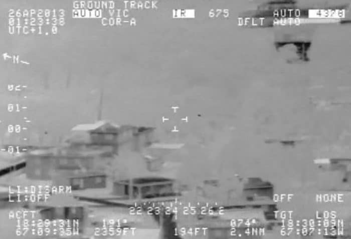 Further military frame showing a UFO