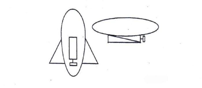 A sketch of the airship by a witness